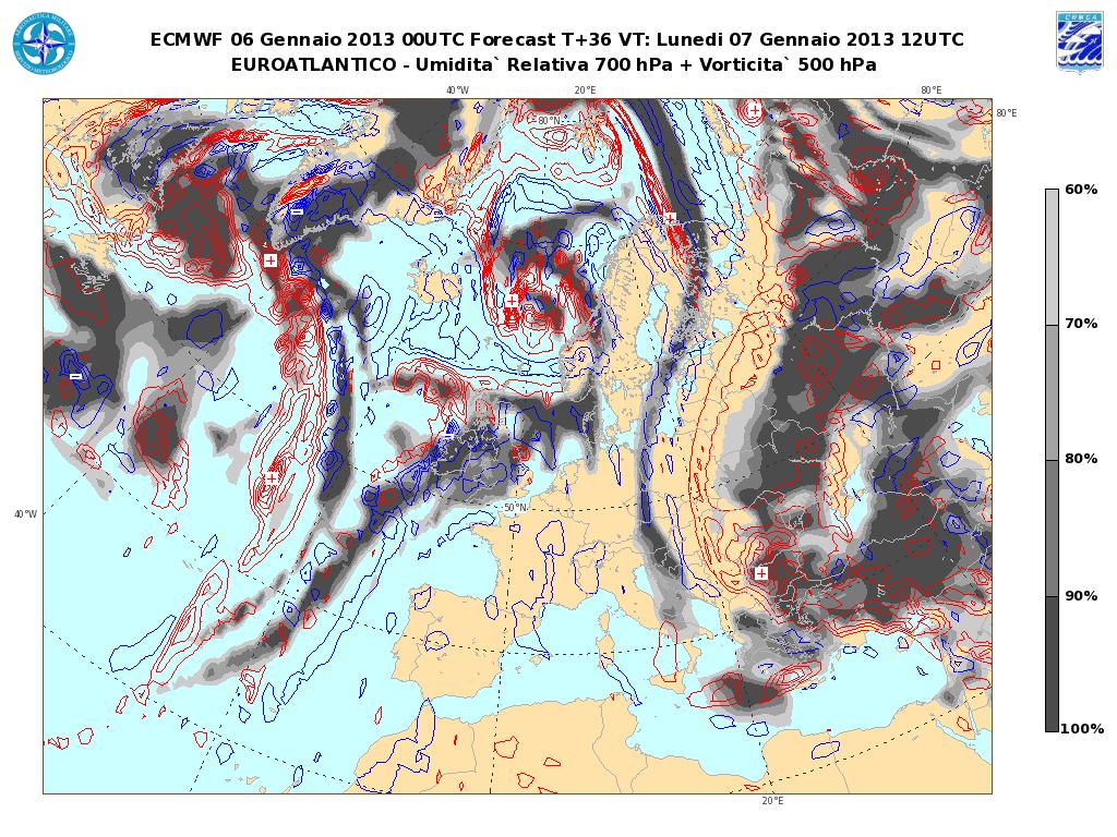 Previsioni Meteo Aeronautica Militare Lunedì 7 Gennaio 2013: stabilità con Sole e nebbie