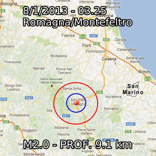 Terremoto Oggi 8 Gennaio 2013