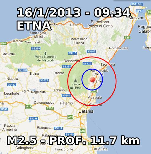 Terremoto Oggi 16 Gennaio 2013