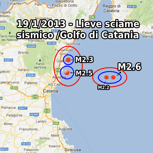 Terremoto Oggi 19 Gennaio 2013