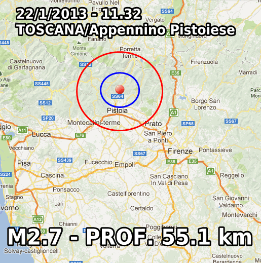 Terremoto Oggi 22 Gennaio 2013