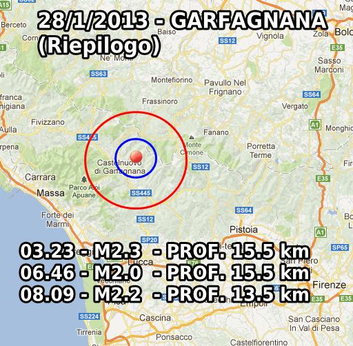 Terremoto Oggi 28 Gennaio 2013