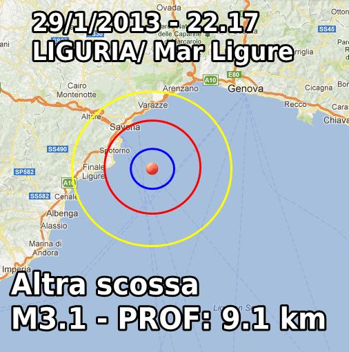 Terremoto Liguria Oggi 29 Gennaio 2013