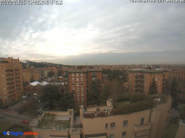 Situazione su Bologna ore 10.00