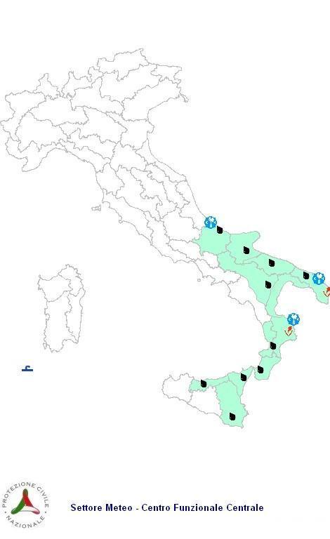 Previsioni meteo 19 Febbraio 2013 Italia: il bollettino della Protezione Civile