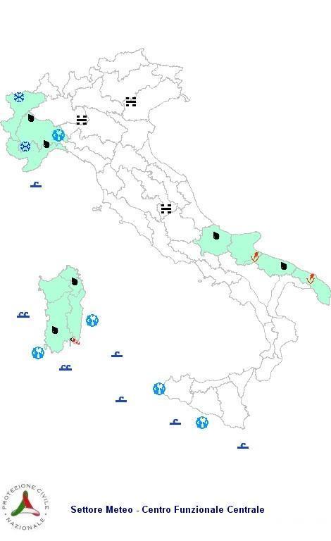 Previsioni meteo 28 Febbraio 2013 Italia: il bollettino della Protezione Civile
