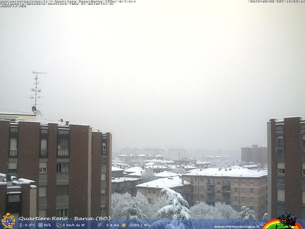 Bologna, prosegue la nevicata