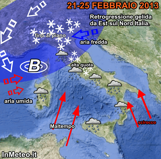 Previsioni meteo terza decade Febbraio
