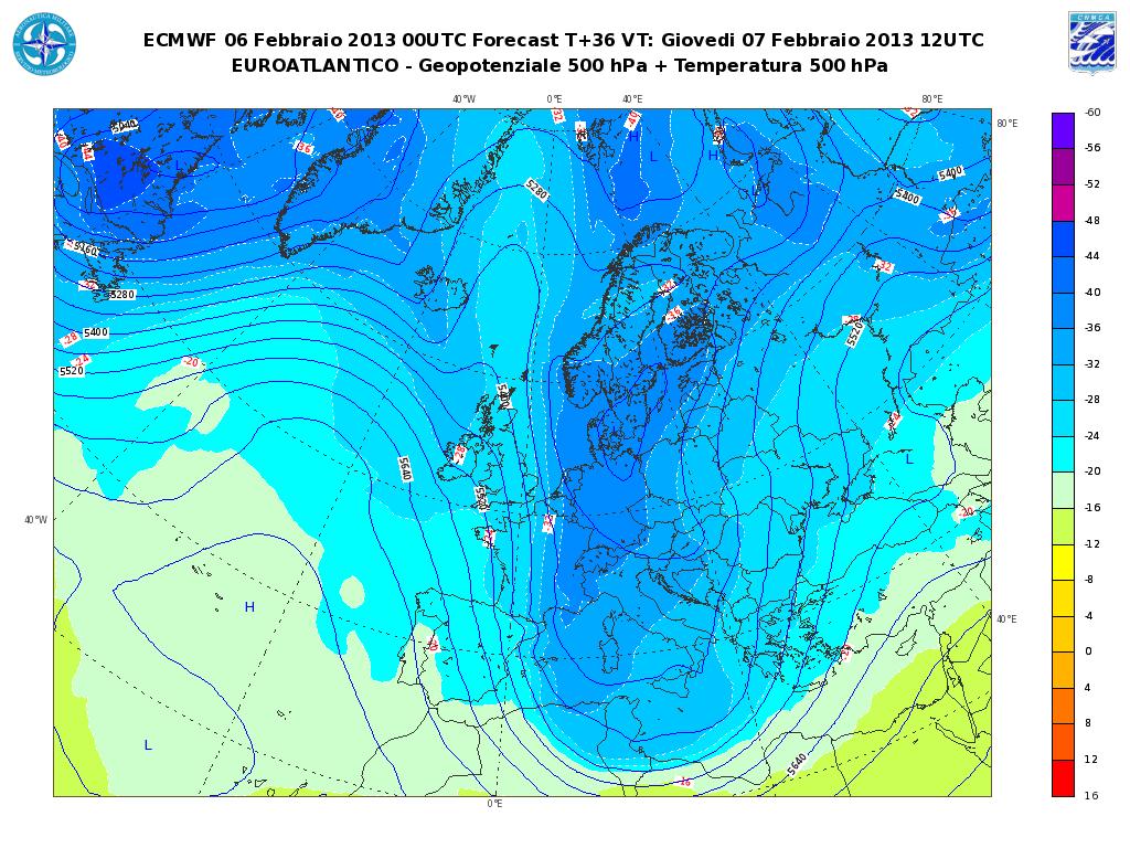 Previsioni Meteo Aeronautica Militare Giovedì 7 Febbraio 2013: maltempo invernale al Centro-Sud
