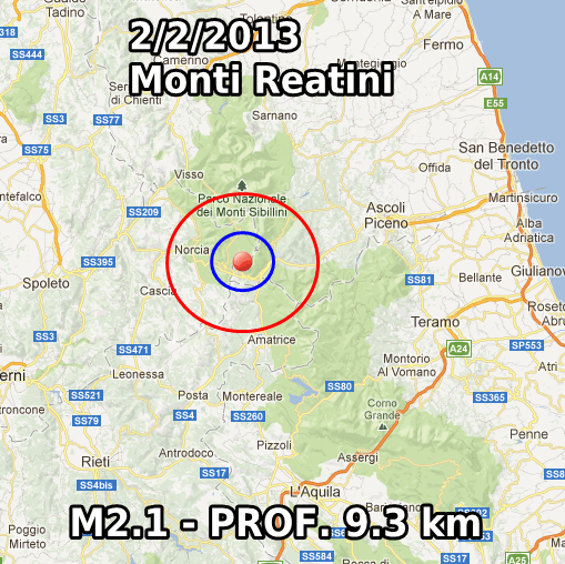 Terremoto Oggi 2 Febbraio 2013