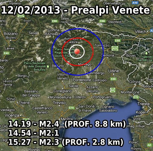 Terremoto Oggi 12 Febbraio 2013