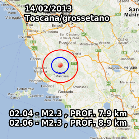 Terremoto Oggi 14 Febbraio 2013