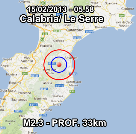 Terremoto Oggi 15 Febbraio 2013