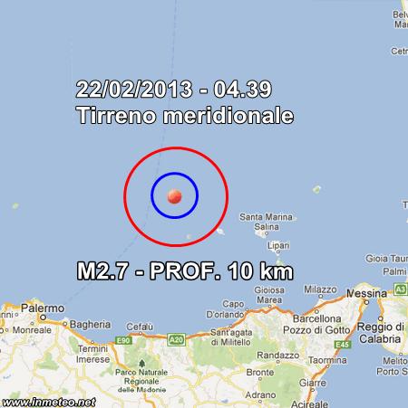 INGV Terremoto Oggi 22 Febbraio 2013