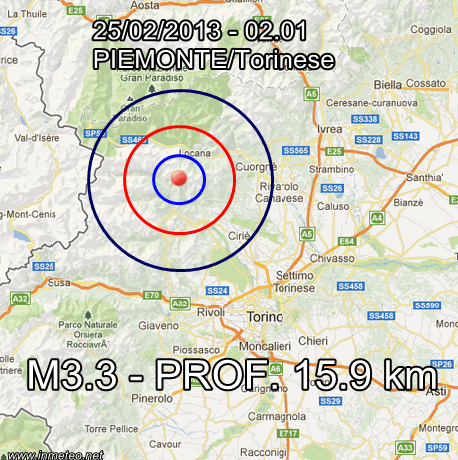 INGV Terremoto Oggi 25 Febbraio 2013