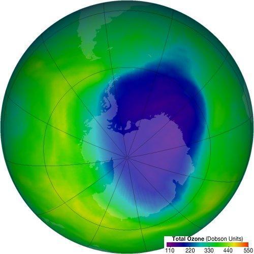 Clima : Buco dell'ozono sull'oceano meridionale.(Fonte:sdamy.com)