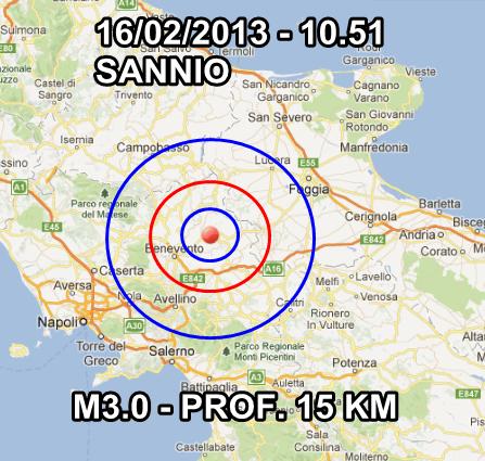 Terremoto Oggi 16 Febbraio 2013