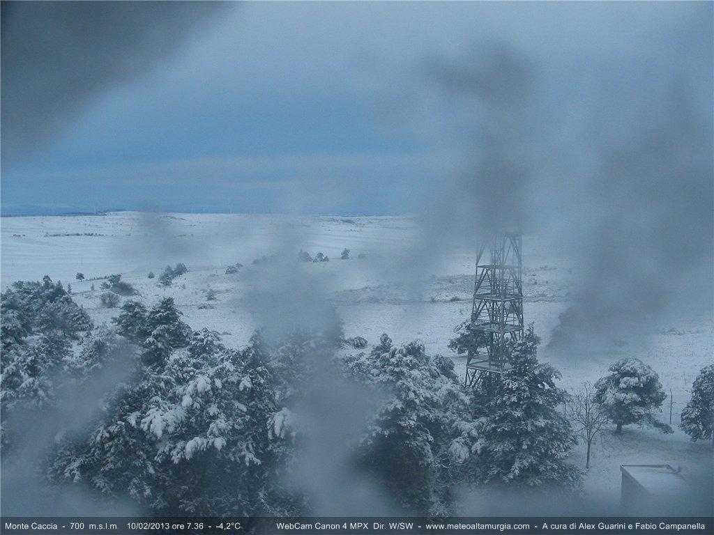 Bianco risveglio sul Monte Caccia