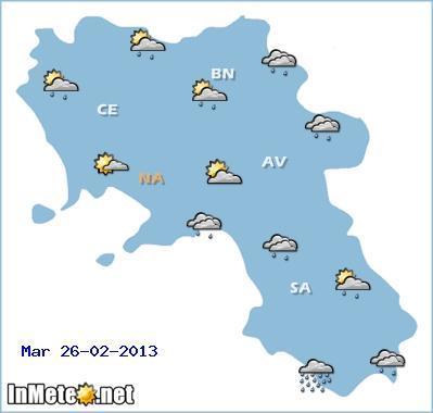 Campania: previsioni meteo 26 Febbraio 2013