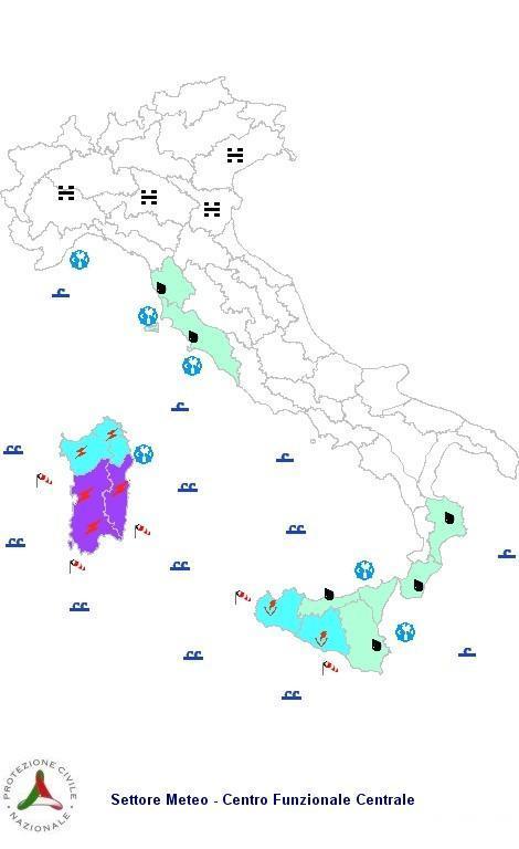 Previsioni meteo 1 Marzo 2013 Italia: il bollettino della Protezione Civile