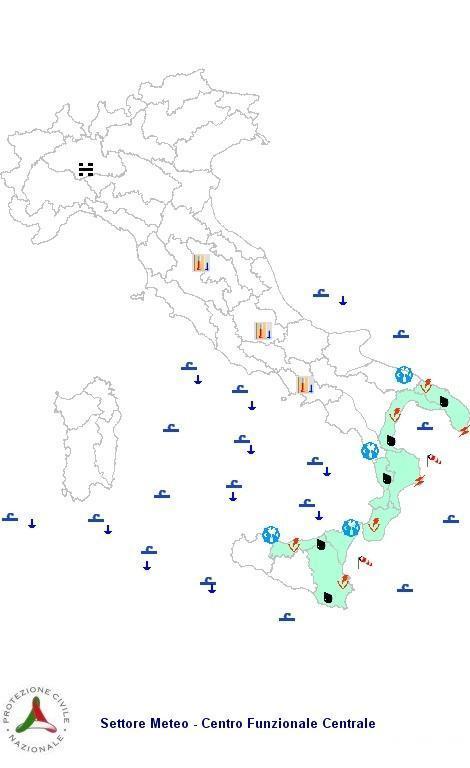 Previsioni meteo 3 Marzo 2013 Italia: il bollettino della Protezione Civile