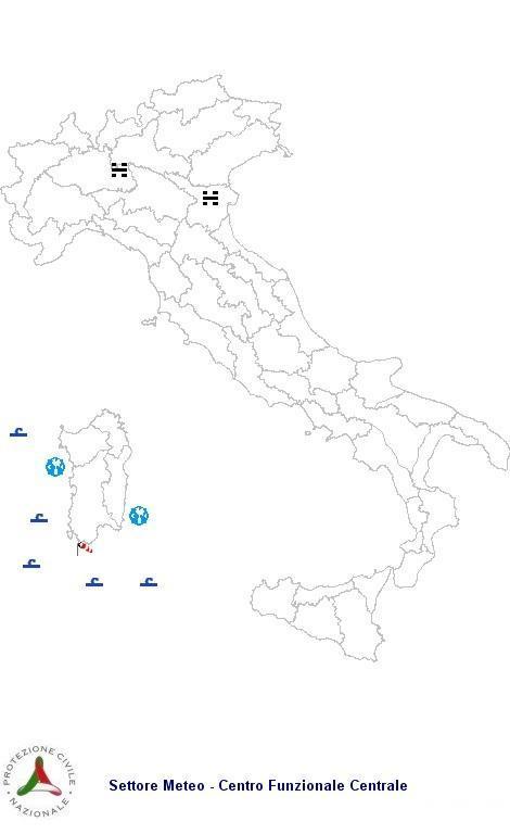 Previsioni meteo 4 Marzo 2013 Italia: il bollettino della Protezione Civile