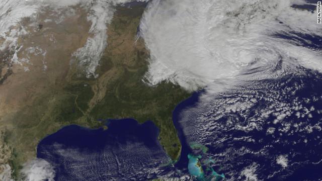 Uragano Sandy sulla costa orientale degli Stati Uniti