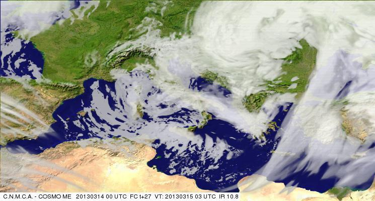 Previsioni Meteo Aeronautica Militare Venerdì 15 Marzo 2013. Fonte: meteoam.it