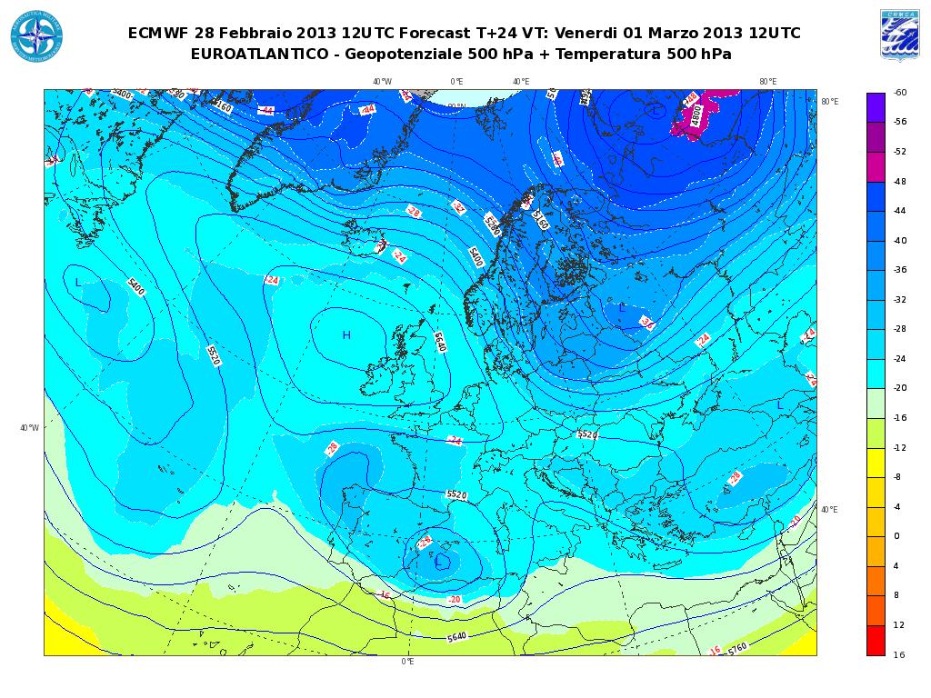Previsioni Meteo Aeronautica Militare Venerdì 1° Marzo 2013: forte peggioramento sulla Sardegna.