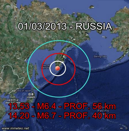 Terremoto Russia 1 Marzo 2013