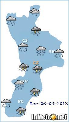 Allerta meteo Calabria oggi 6 Marzo 2013