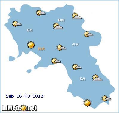 Campania: deciso miglioramento nella giornata di Sabato