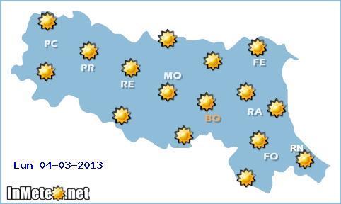 Emilia Romagna, tempo stabile domani Lunedì 4 Marzo, ma nuovo peggioramento significativo da Mercoledì