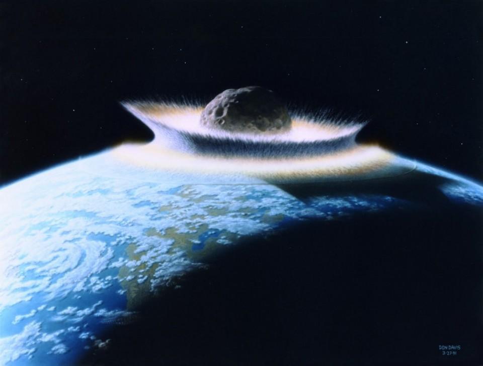 Impatto dell'asteroide sulla Terra-Un gruppo di scienziati ha simulato tale evento (fonte:wikipedia)