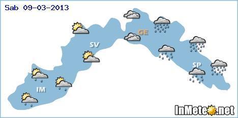 Liguria, ancora maltempo anche intenso domani 9 Marzo, migliora nella giornata di Domenica