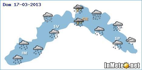 Liguria: forte peggioramento fra Domenica e Lunedì