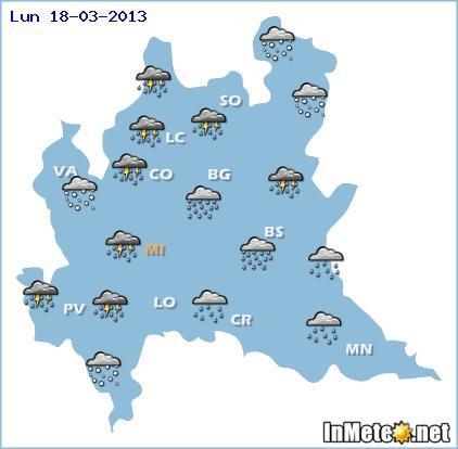 Lombardia: nuova ondata di maltempo da Domenica con freddo e nevicate a bassa quota se non in pianura inizialmente