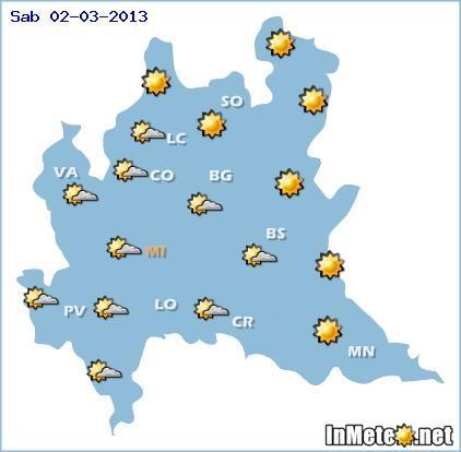 Lombardia: previsioni meteo 2 Marzo 2013 e fino a sette giorni