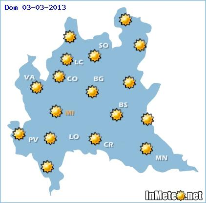 Lombardia meteo week end 2-3 Marzo 2013
