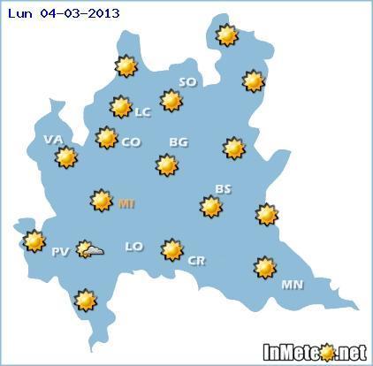 Lombardia: previsioni meteo domani 4 Marzo 2013