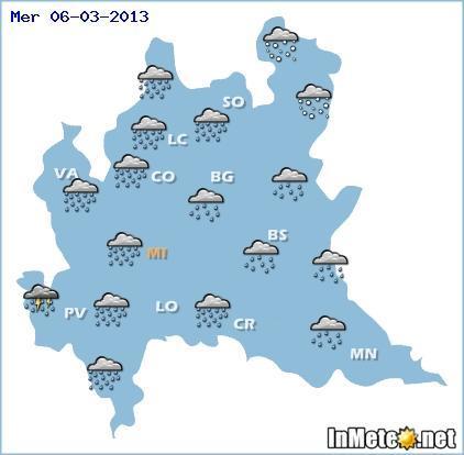 Lombardia: MALTEMPO Mercoledì 6 Marzo, ecco le previsioni