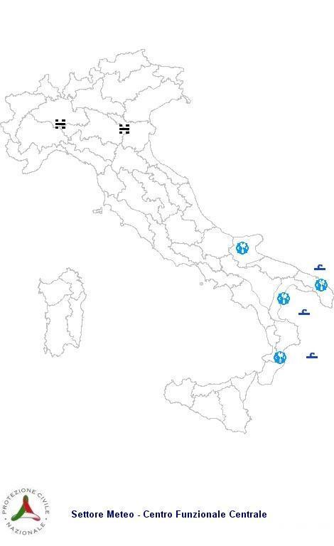 Previsioni meteo 14 Aprile 2013 Italia: Bollettino della Protezione Civile. Fonte: www.protezionecivile.gov.it