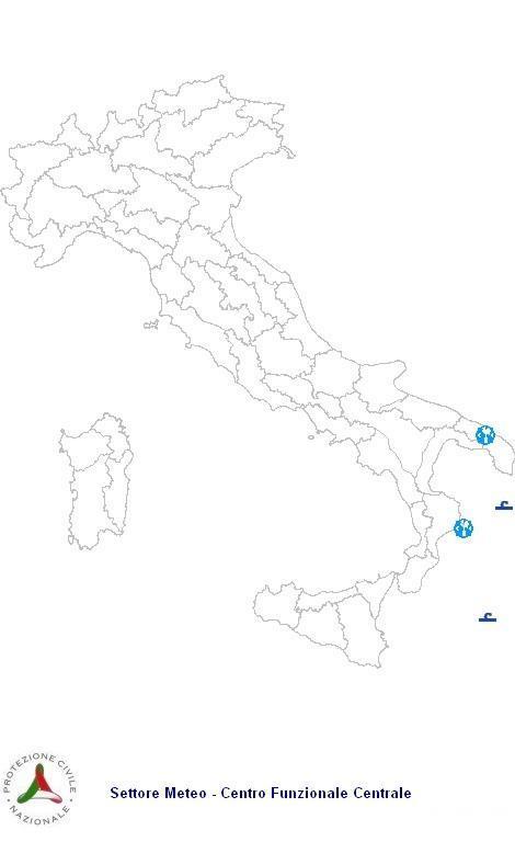 Previsioni meteo 15 Aprile 2013 Italia: Bollettino della Protezione Civile. Fonte: www.protezionecivile.gov.it