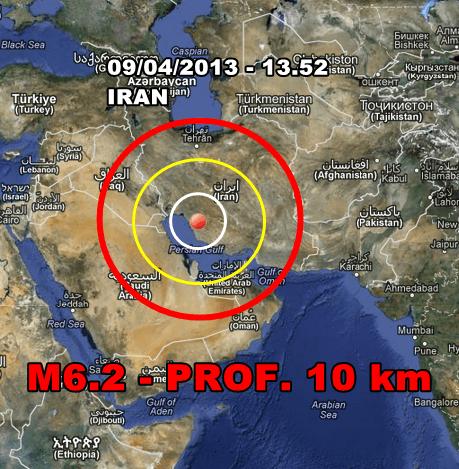 Terremoto Oggi Iran: violenta scossa magnitudo 6.2