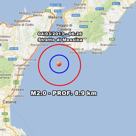 INGV Terremoto Oggi - Lievi scosse in Sicilia in nottata e prime ore del mattino. Altrove nulla da segnalare al momento