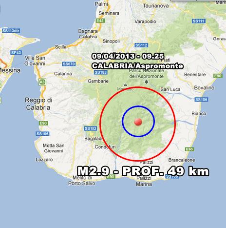 INGV Terremoto Oggi - Lieve scossa avvertita in Calabria sull'Apromonte in mattinata. Monitoraggio costante in tempo reale.