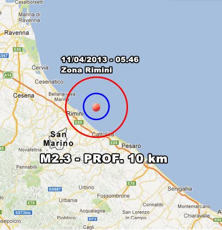 INGV Terremoto Oggi - Lieve scossa nell'Adriatico, a pochi chilometri da Rimini in nottata. Monitoraggio sismico in tempo reale.