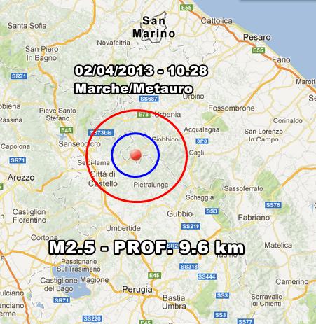 INGV Terremoto Oggi - Lievi scosse nello Stretto di Messina e sul Pollino. In mattinata lieve scossa avvertita nelle Marche