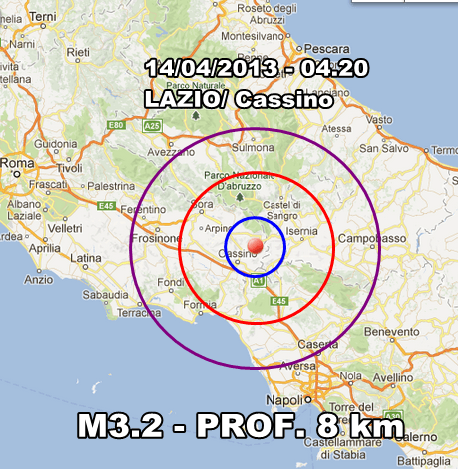 INGV Terremoto Oggi - Moderata scossa avvertita tra Lazio e Campania in nottata. Scosse anche in Emilia Romagna.