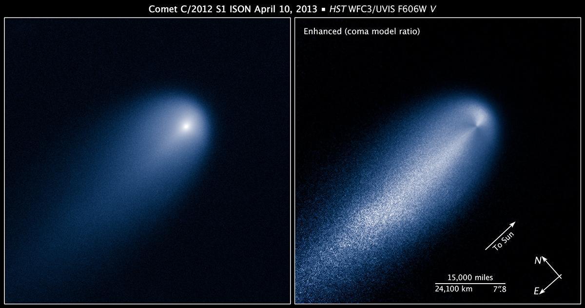 Ison fotografata dal telescopio Hubble